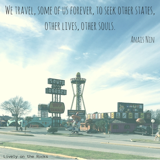 We travel, some of us forever, to seek other states, other lives, other souls.Anais Nin-2.jpg